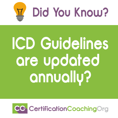 icd guidelines are updated annually