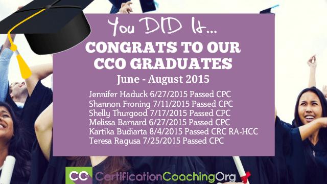 cco graduates 2015 - cpc exam passers
