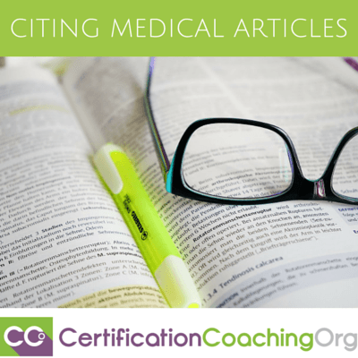 citing medical articles