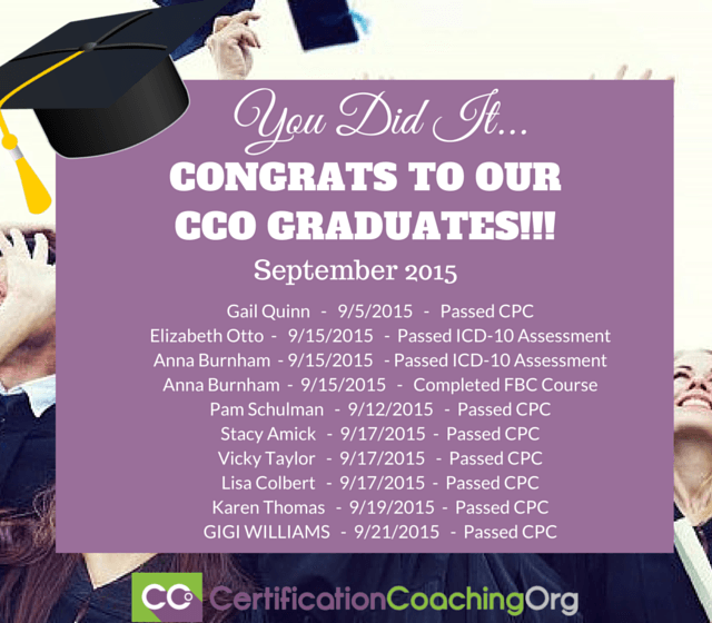 2015 CCO Graduates and Exam Passers-Week4