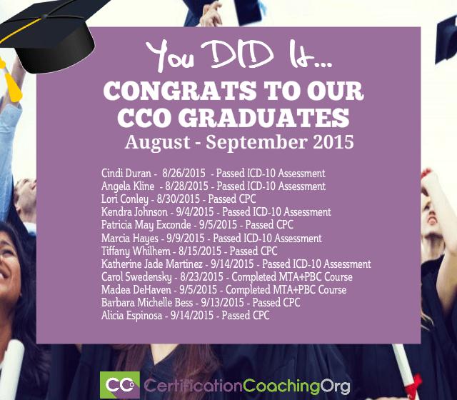 CCO Congratulations