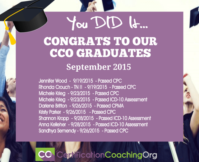 2015 CCO Congratulations and Exam Passers