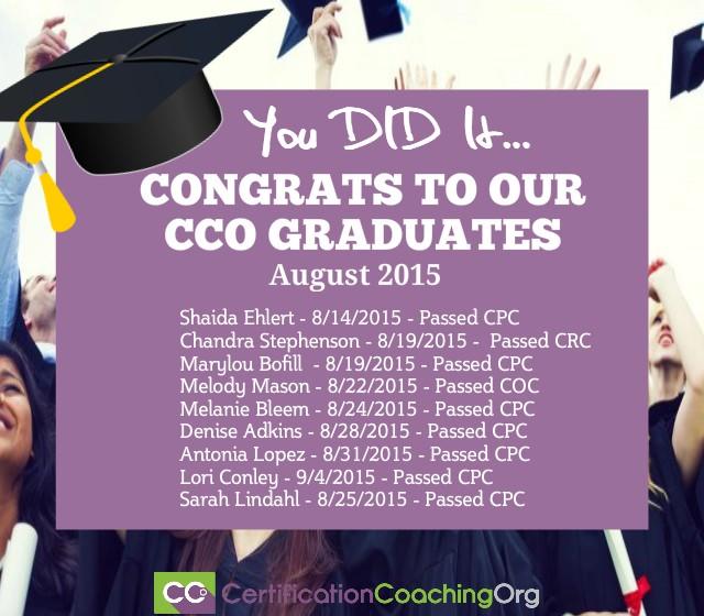 cco graduates cpc exam passers 2015