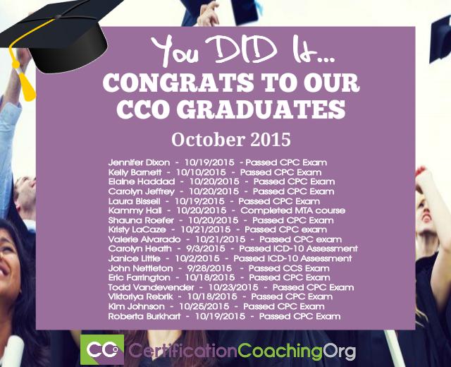 2015 CCO Graduates and Exam Passers