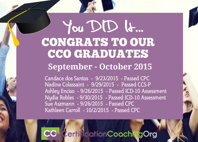 CCO Congratulations and Exam Passers