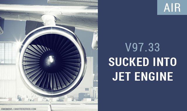 Sucked Into Jet Engine ICD-10 Code