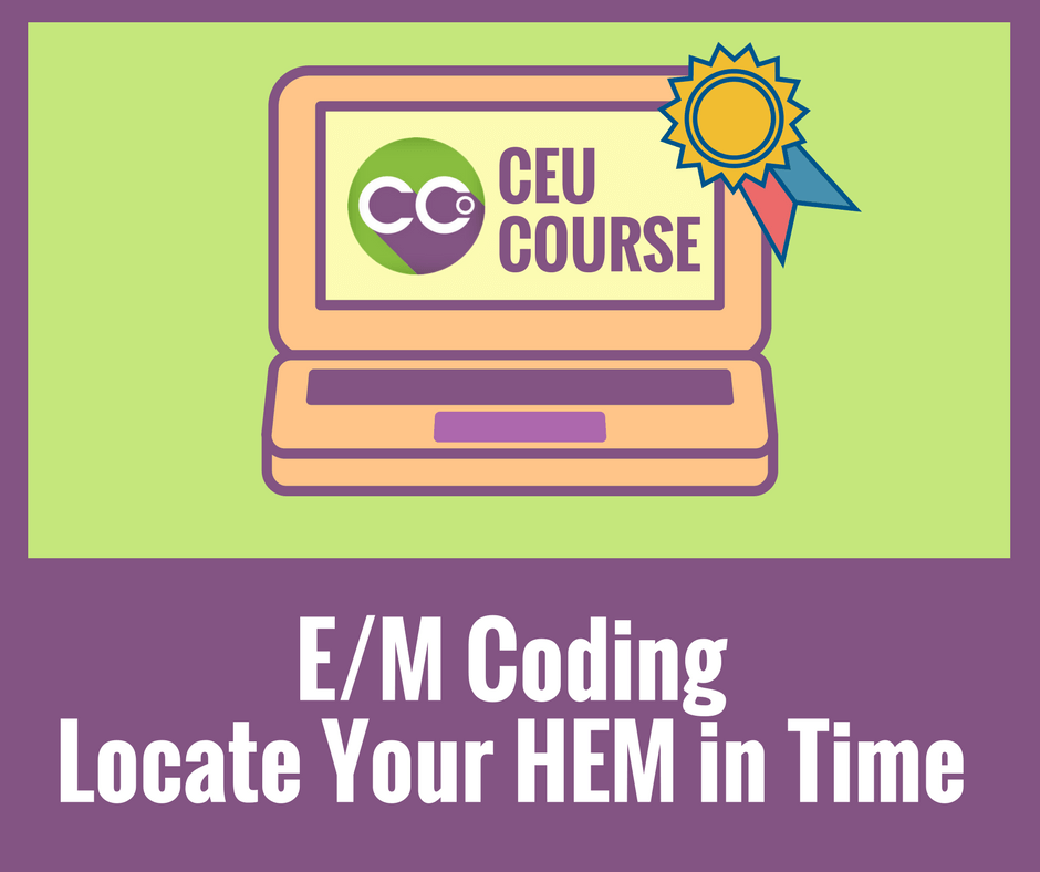 CEU Credits Online Course - EM Coding