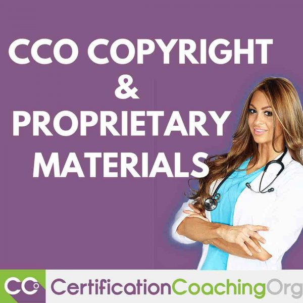 CCO Copyright and Proprietary Materials