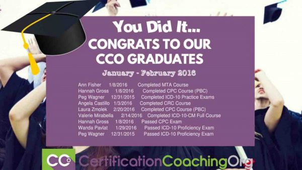 February 2016 CCO Graduates and CPC Exam Passers