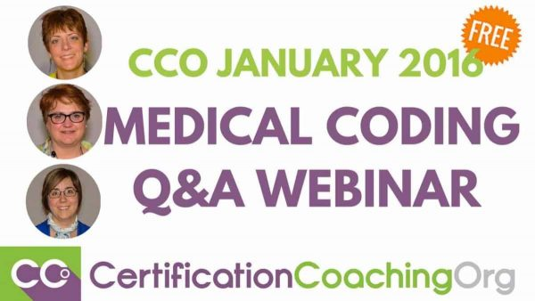 CCO January 2016 Medical Coding QandA Webinar - Intro