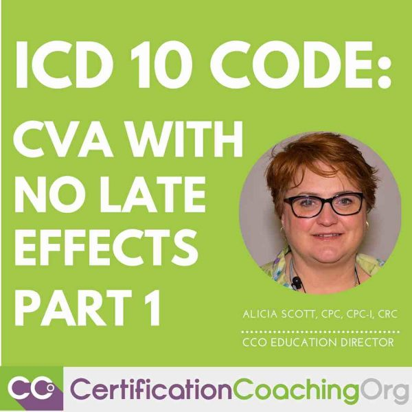 ICD 10 Code for CVA with No Late Effects