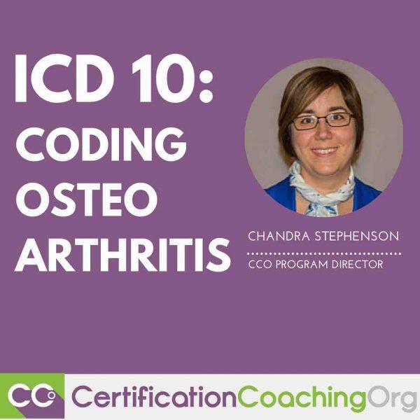 ICD 10 Coding of Osteoarthritis