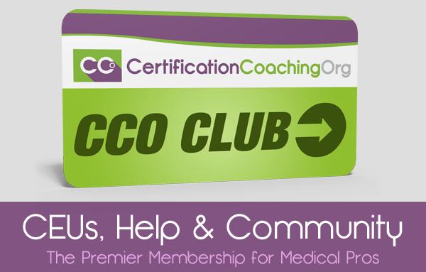 CCO Club for CEUs, Help and Community