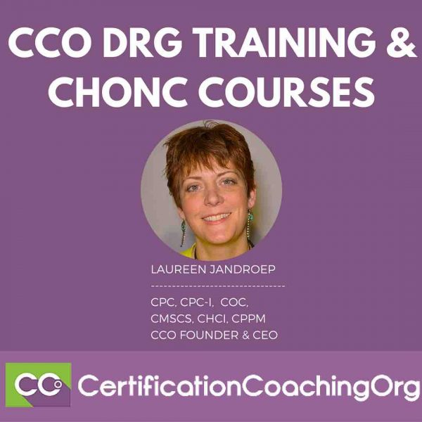 CCO DRG Training and CHONC Courses