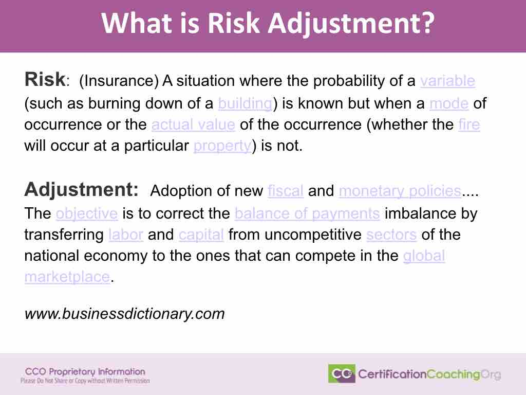 What Is Risk Adjustment - HCC Coding