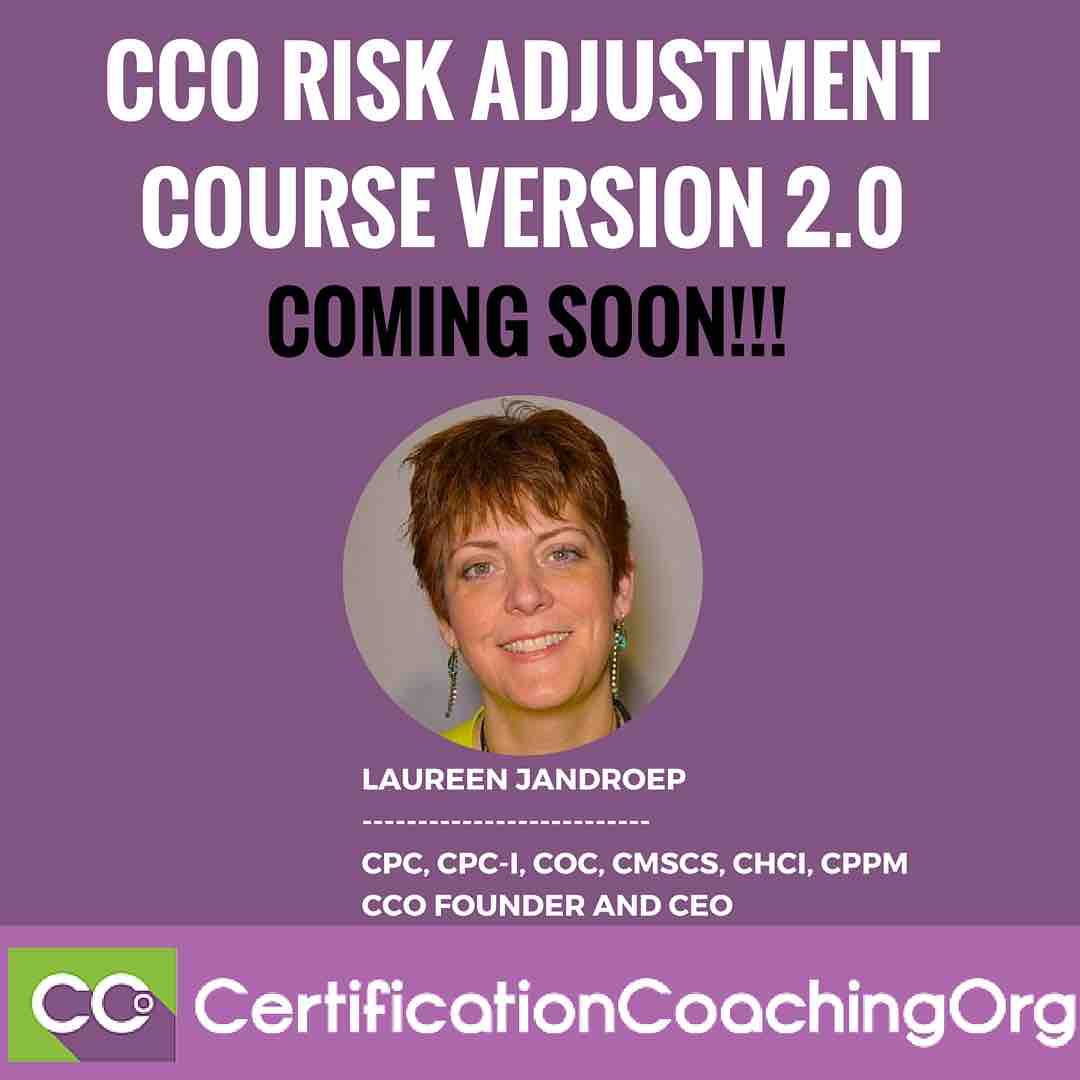 CCO Risk Adjustment Course Version 2.0 | HCC Coding Course V2.0