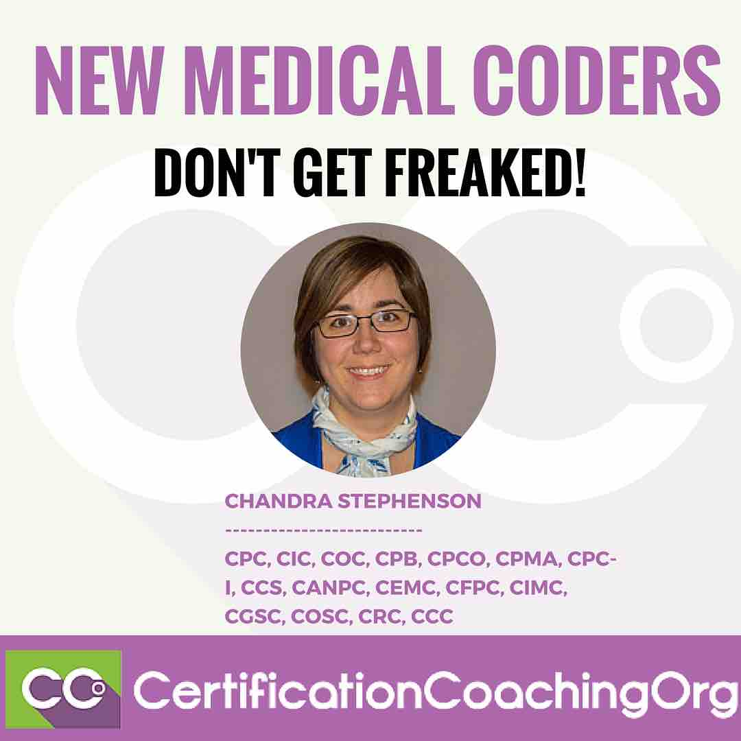 New Medical Coders Don't Get Freaked