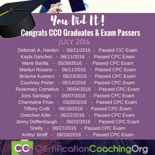 July 2016 CCO Graduates and CPC Exam Passers Week 1
