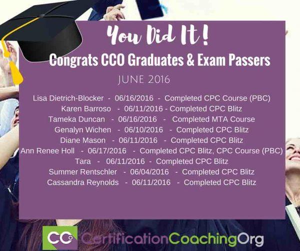 June 2016 CCO Graduates & Exam Passers (FINAL)
