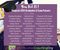 July 2016 CCO Graduates and CPC Exam Passers - Week 2