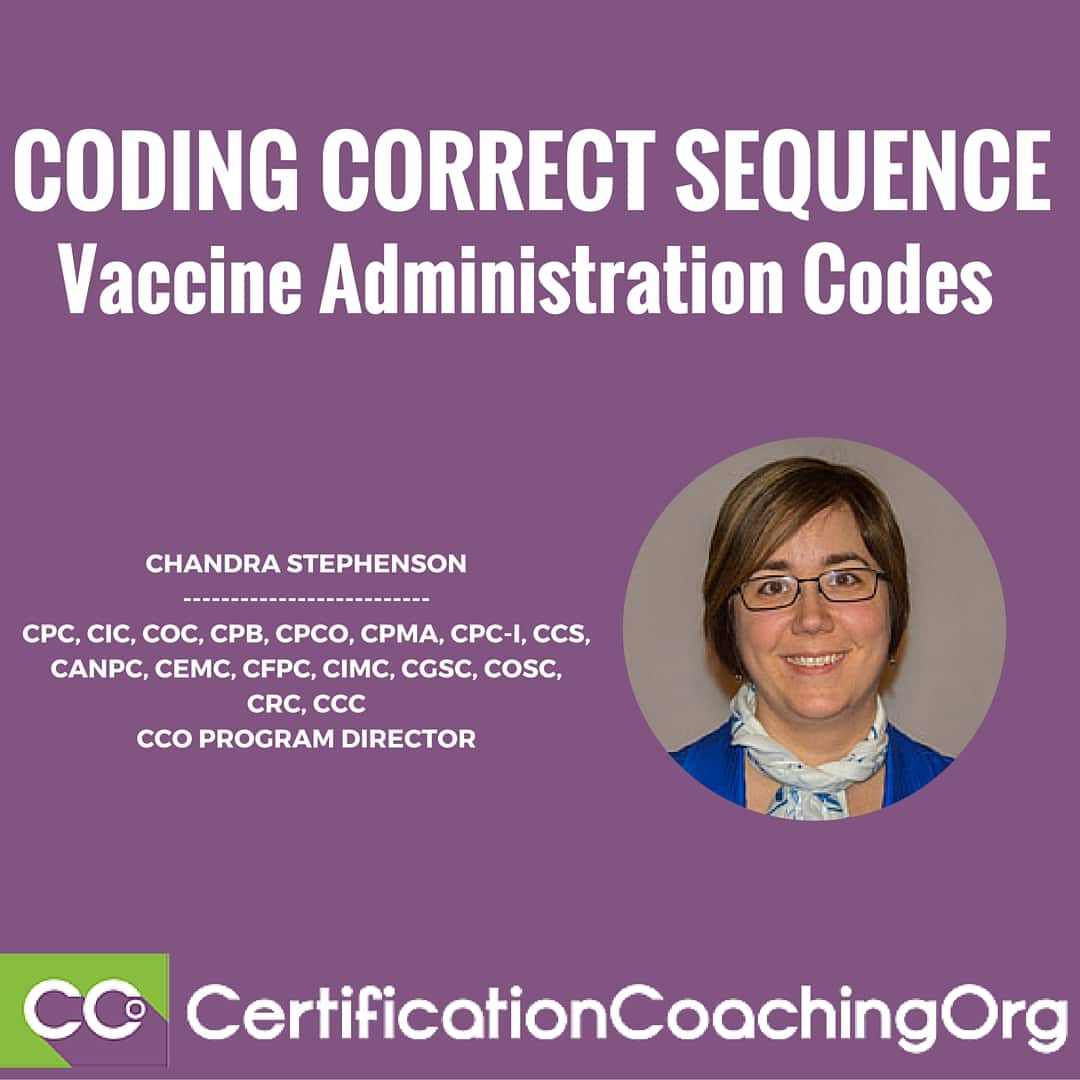 Correct Coding Sequence of Vaccine Administration Codes