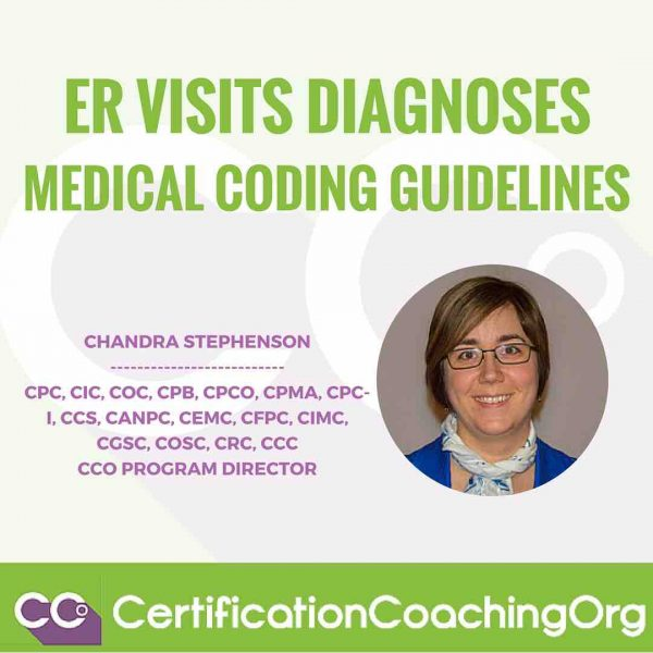 Emergency Department Visits Diagnoses Medical Coding Guidelines