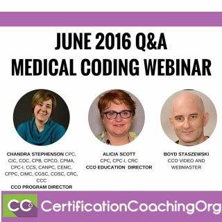 CCO June 2016 Q&A Webinar Intro   FREE Medical Coding Webinar