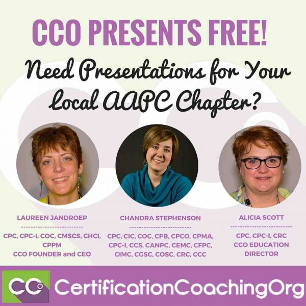 Need Presentations for Your AAPC Local Chapter? CCO Presents FREE!
