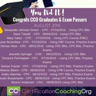 CCO Graduates and CPC Exam Passers 2016