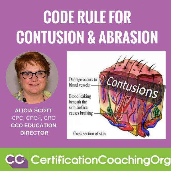 Code Rule for Contusion and Abrasion