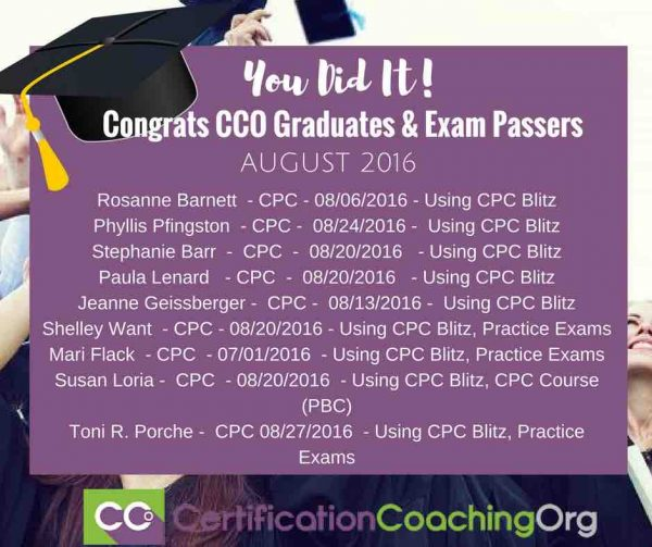 August 2016 CCO Graduates and CPC Exam Passers - FINAL