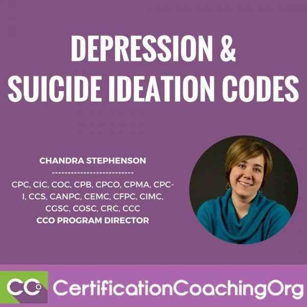 Sequencing of Codes: Depression and Suicidal Ideation Codes