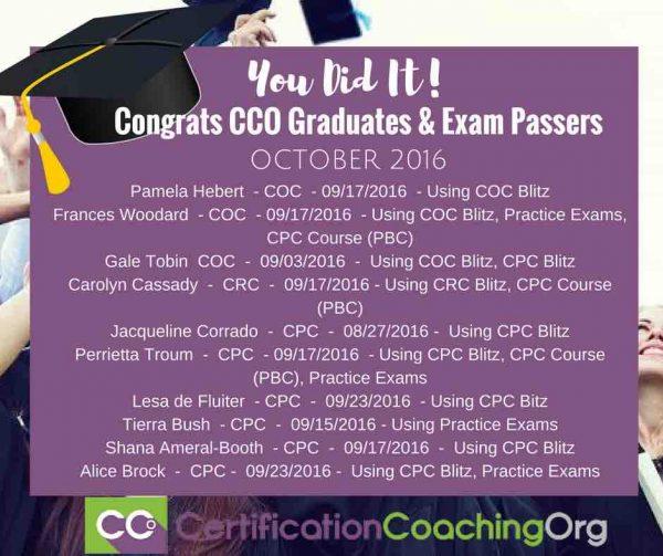 CCO Graduates and CPC Exam Passers