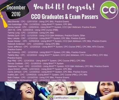 CCO Congrats December Part 3