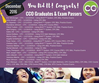 CCO Congrats post December