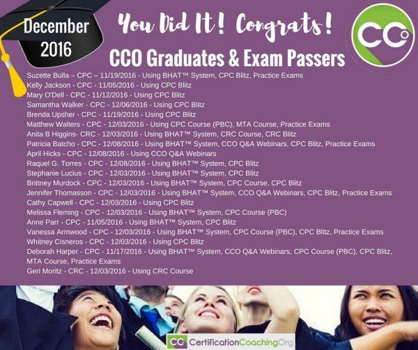 CCO Congrats December Part 2