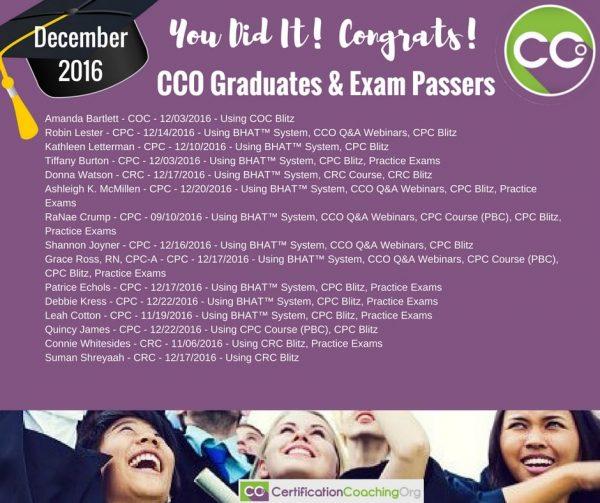 CCO Congrats December Part 4