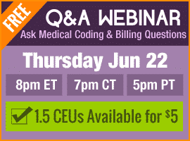 Free Medical Coding QA Webinar