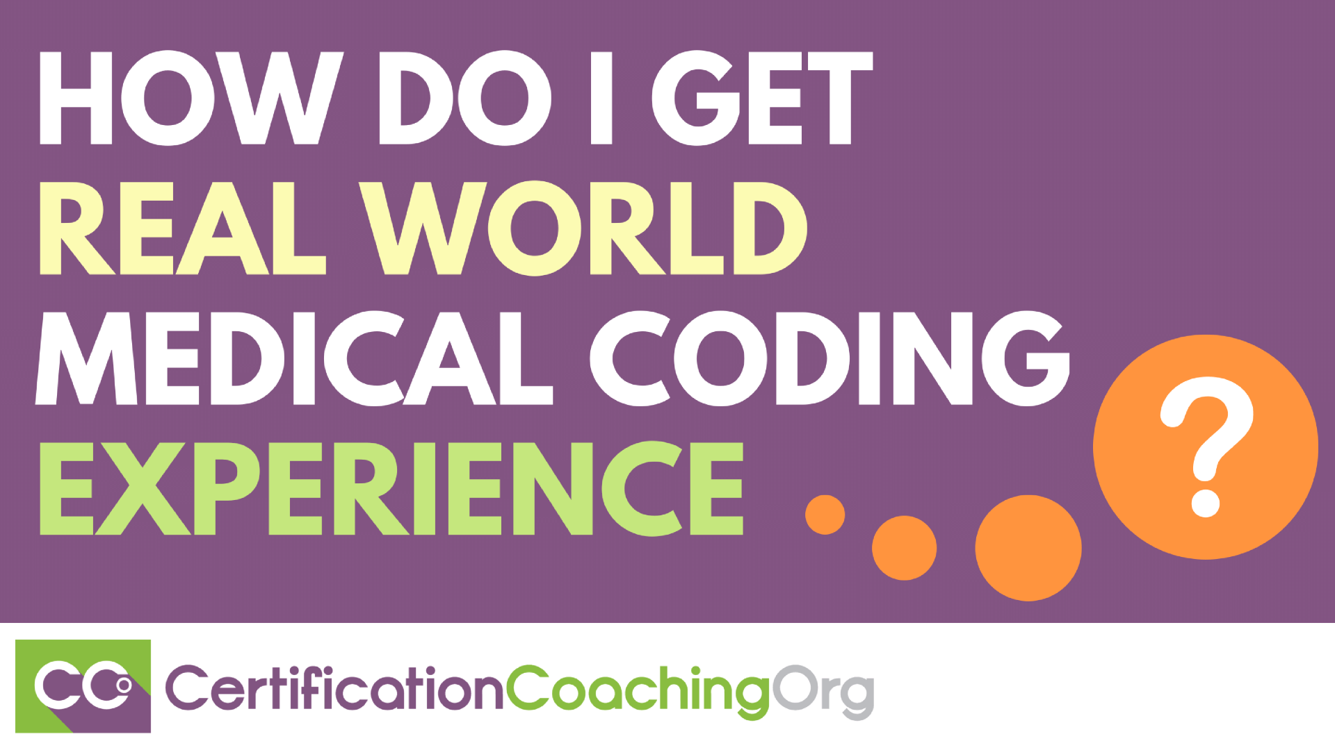 How Do I Get Real World Coding Experience?