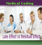 Medical Coding Late Effect vs Residual Effect