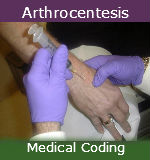 Medical coding Arthrocentesis