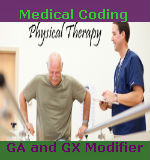Medical Coding GA and GX Modifiers for PT