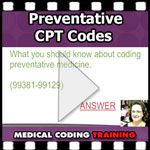 preventative cpt codes